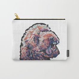 Labradoodle Doodle Dog Portrait bright colorful Pop Art Paintin by LEA Carry-All Pouch