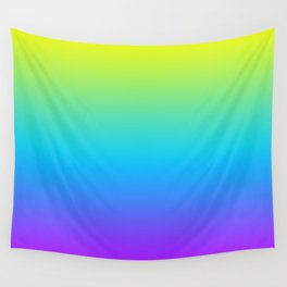 YELLOW/TEAL/PURPLE FADE Wall Tapestry