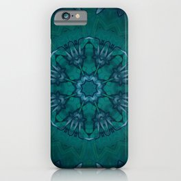 Waterfalls // Healing Energy Chakra Mandala Art Turquoise Blue Green Peace Love Creativity iPhone Case