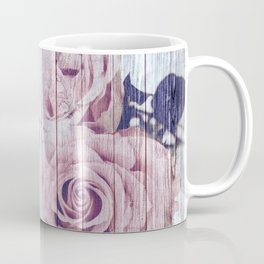 La Vie En Rose Shabby Chic Dusky Pink Rose Coffee Mug