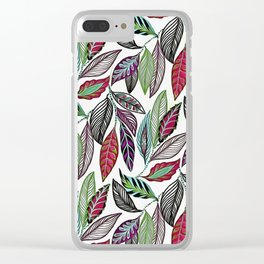 Colorful leaves pattern Clear iPhone Case