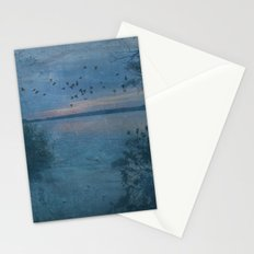 Dusk at the Lake Stationery Cards