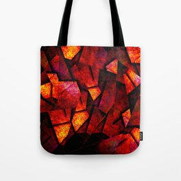 Fragments Of Fire - Abstract, geometric, fragmented pattern Tote Bag