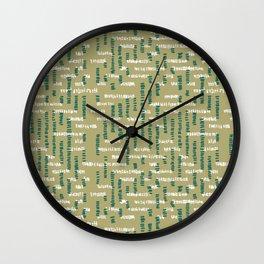Tribal Maze Wall Clock