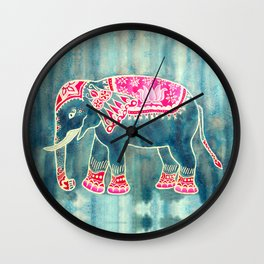 Elephant Indian Style Wall Clock