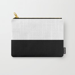 Abstract Black and White Horizon Color Block Carry-All Pouch