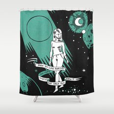When you close your eyes Shower Curtain