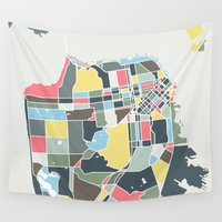san francisco Wall Tapestries featuring San Francisco. by Studio Tesouro