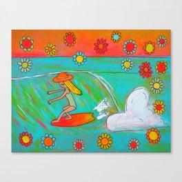 hang 5 lady slider flower power  Canvas Print