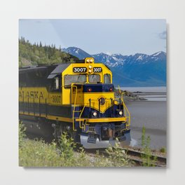 5298 - Alaska Passenger Train Metal Print
