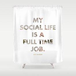Social Life Shower Curtain