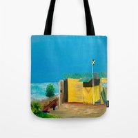 jamaica Tote Bags featuring Jamaica. Jamaican Blues by ANoelleJay