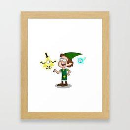 Hyrule Falls Framed Art Print