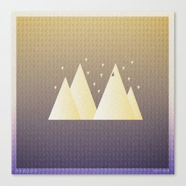 Music in Monogeometry : Bon Iver Canvas Print