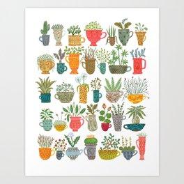 Teacup Garden Art Print