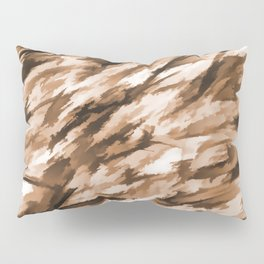 Beige on Beige Designer Camo pattern Pillow Sham