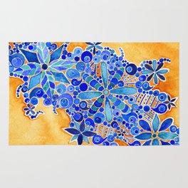 Blue Bouquet Rug
