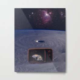 Space TV Station Metal Print