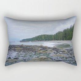 Pacific Northwest West Coast Trail Beach Low Tide Rectangular Pillow