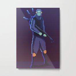 Pixel Soldier Metal Print