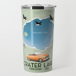 Crater Lake Oregon Travel Poster Travel Mug