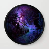 fantasy Wall Clocks featuring Fantasy Path Purple by 2sweet4words Designs