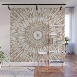 Beige Kaleidoscope Mandala Wall Mural