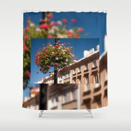 Pink and red Ivy leaved geranium Shower Curtain