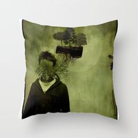island Throw Pillows featuring ISLAND by oppositevision