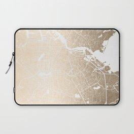 Amsterdam Gold on White Street Map II Laptop Sleeve