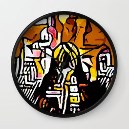 Kolage ~ Egyptian Gold ~ 3 Wall Clock