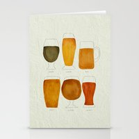 beer Stationery Cards featuring Beer by Cat Coquillette