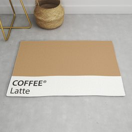 Coffee Latte True Color Artwork for Coffee Lovers Rug