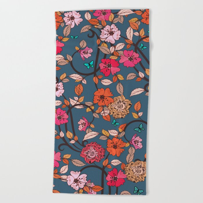 Petals Beach Towel