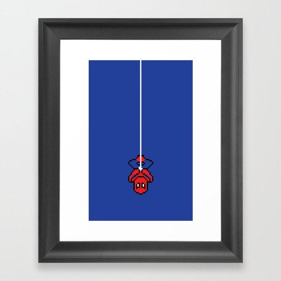 Spider-Pixel Framed Art Print