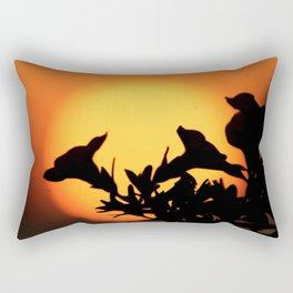 Flower Silhouettes Rectangular Pillow