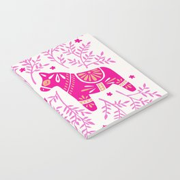 Swedish Dala Horses – Pink Palette Notebook