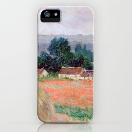 Haystacks at Giverny by Claude Monet iPhone Case