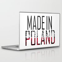 poland Laptop & iPad Skins featuring Made In Poland by VirgoSpice
