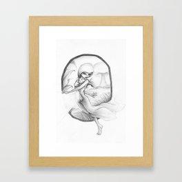 SLIPPING AWAY. Framed Art Print