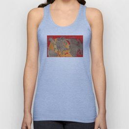 The tree of life gold abstract Unisex Tank Top