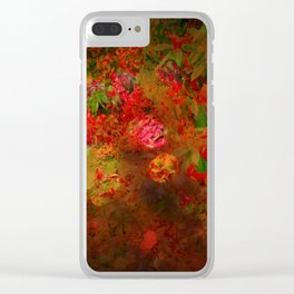 Cascading Foliage Clear iPhone Case