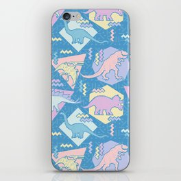 Nineties Dinosaurs Pattern  - Pastel version iPhone Skin