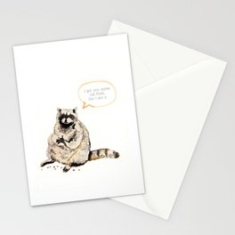 Raccoons Are Poor Gifters Stationery Cards
