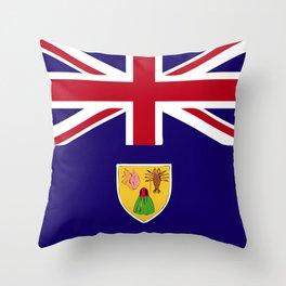 Turks and Caicos Islands flag emblem Throw Pillow