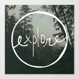 Explore Oregon Forest Canvas Print