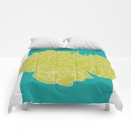 Floral Greens Comforters