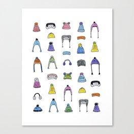 Pom Pom Hats Galore Canvas Print