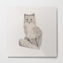 Foxy Metal Print