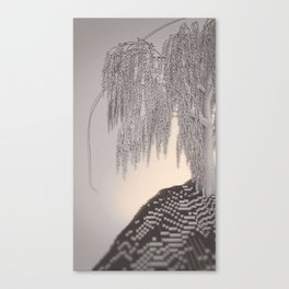 Weeping Willow /ˈvɒksɛl/ Diptych Left Canvas Print